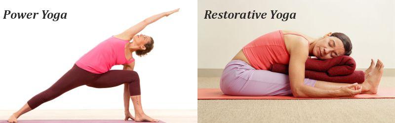 power yoga and restorative yoga
